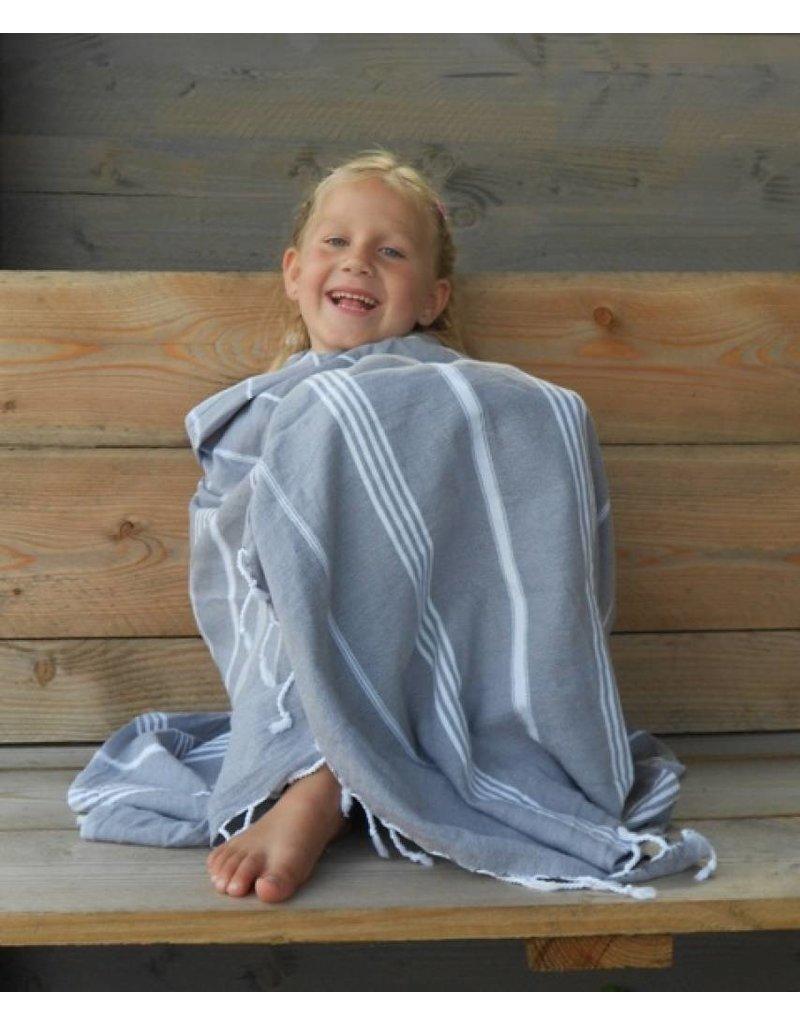 Lalay Hamam doek - Lavendel met fijne witte strepen