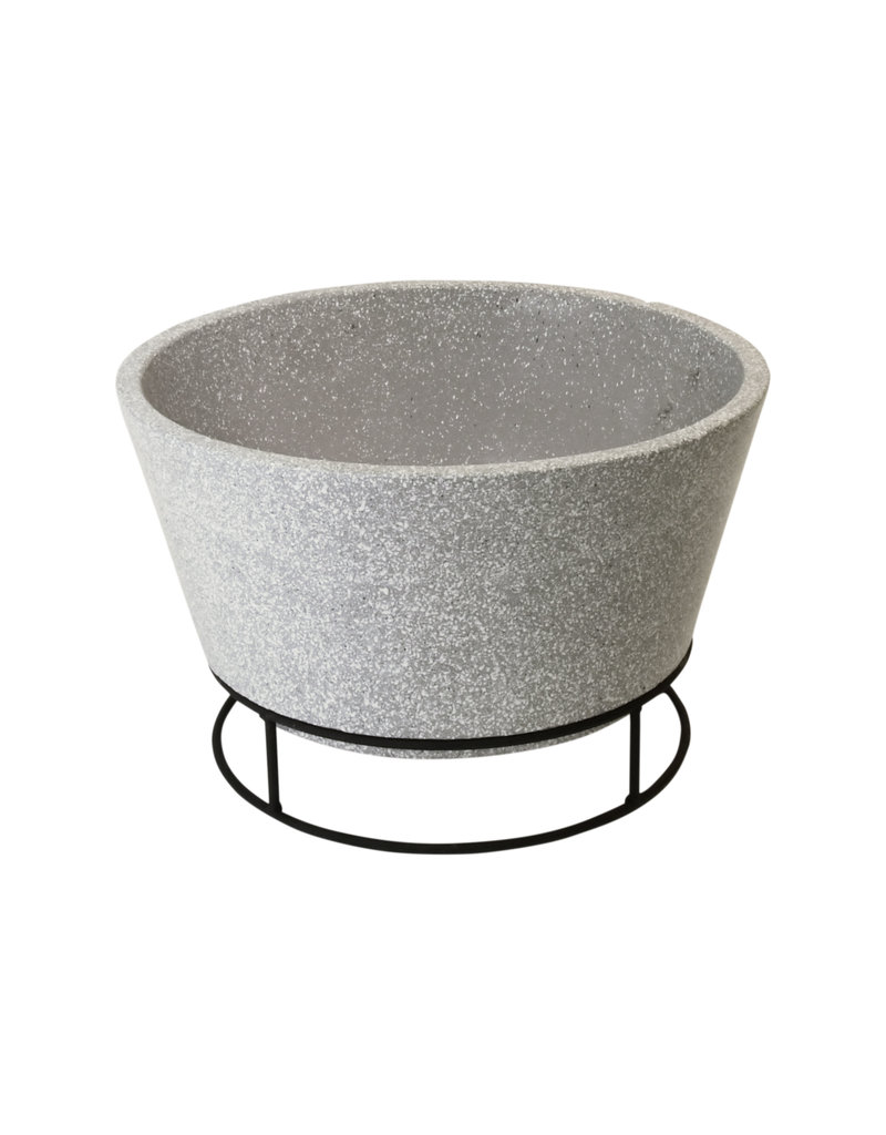 Esschert Design Vuurschaal - keramiek -  Betonlook