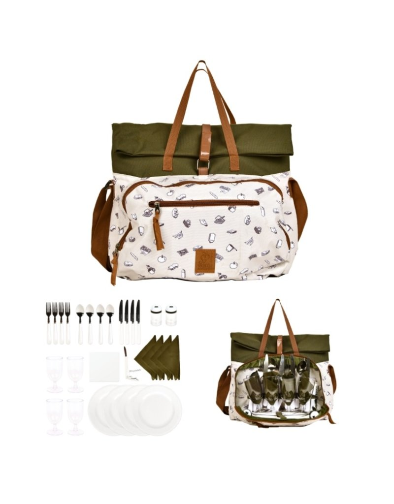 Esschert Design Picknick tas - 4 personen