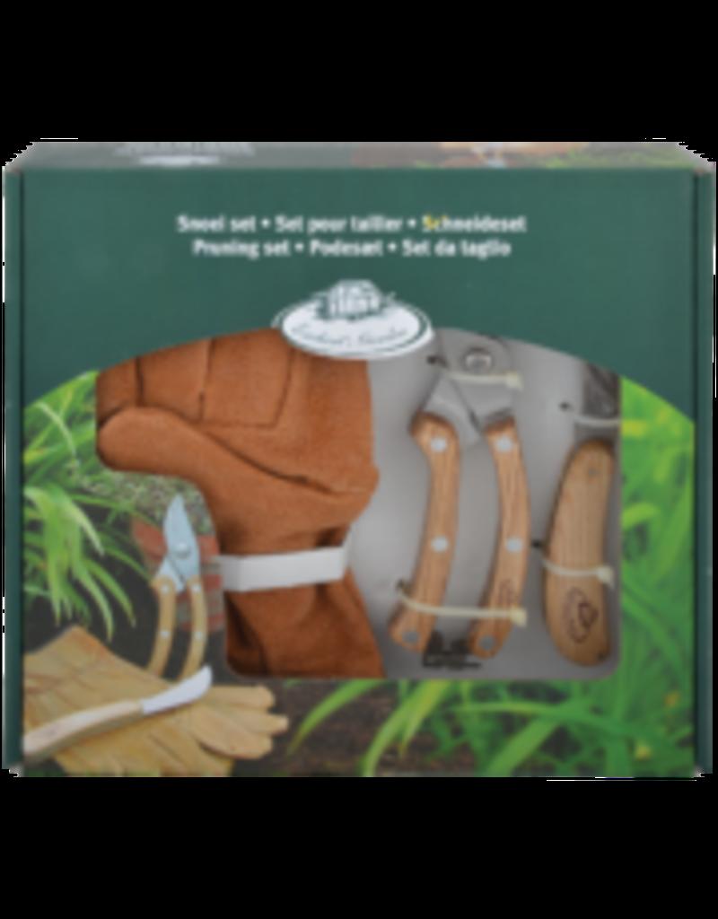 Esschert Design RVS snoei set met handschoen in cadeauverpakking