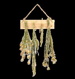 Esschert Design Bloemen- en kruidendroogrek met touw