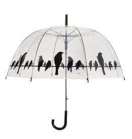 Esschert Design Paraplu - Transparant - Vogels op draad