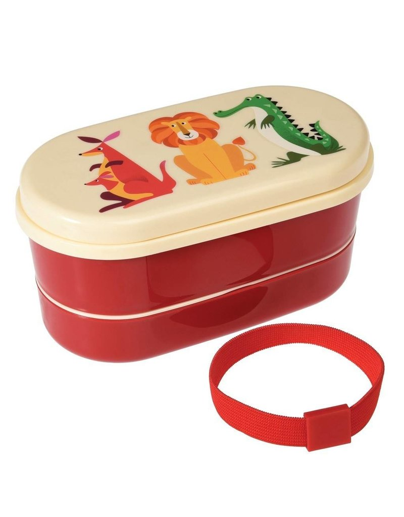 Rex London Bento lunch box - Colourful Creatures