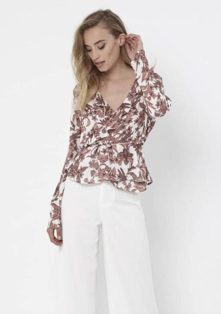 blouse celeste pink