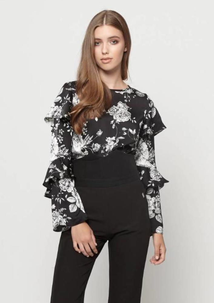 blouse luz zwart