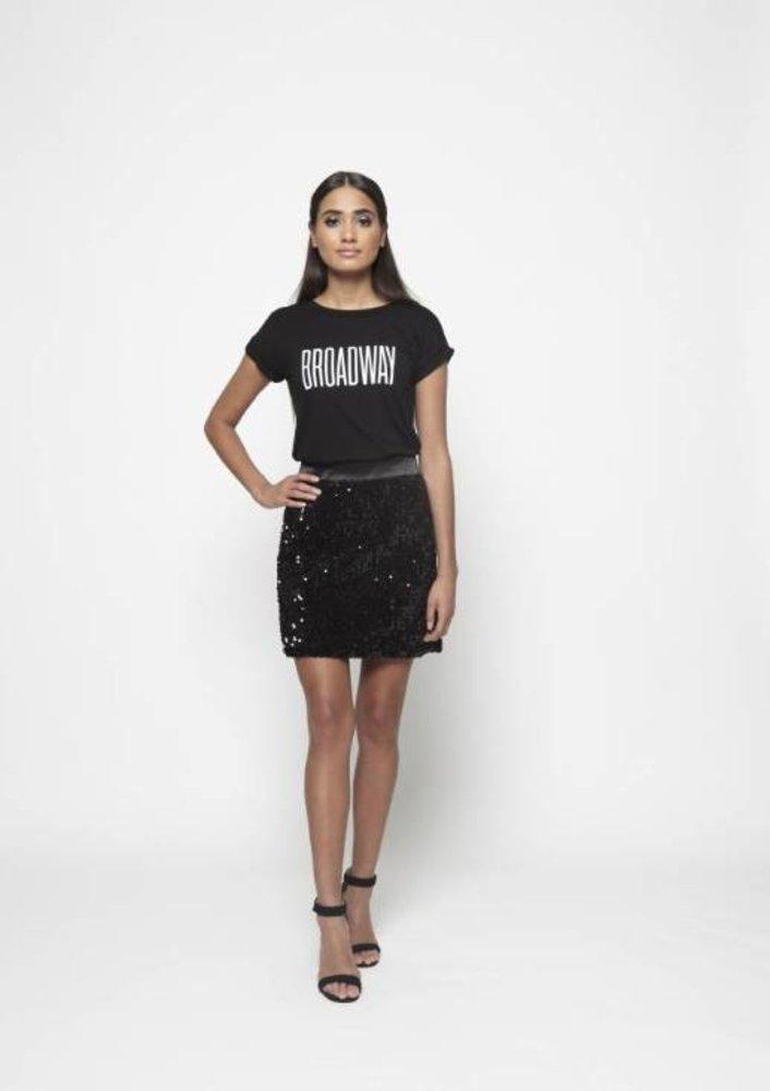 skirt fabiola zwart