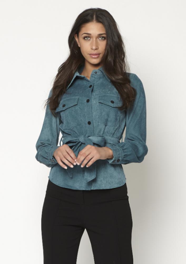 blouse julia blauw
