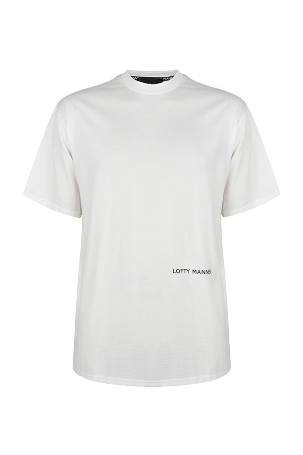 Lofty Manner T-Shirt Sander-Wit Cirkel