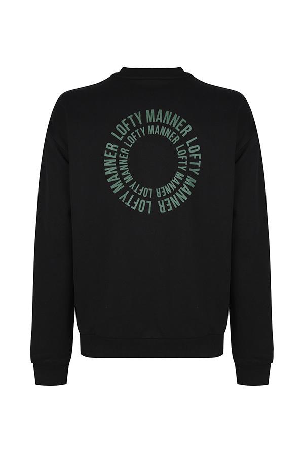 Lofty Manner Sweater Finn-Black Circle