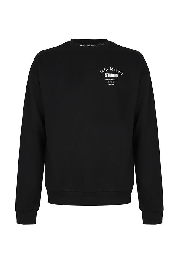 Lofty Manner Jaydon-Black Studio sweater