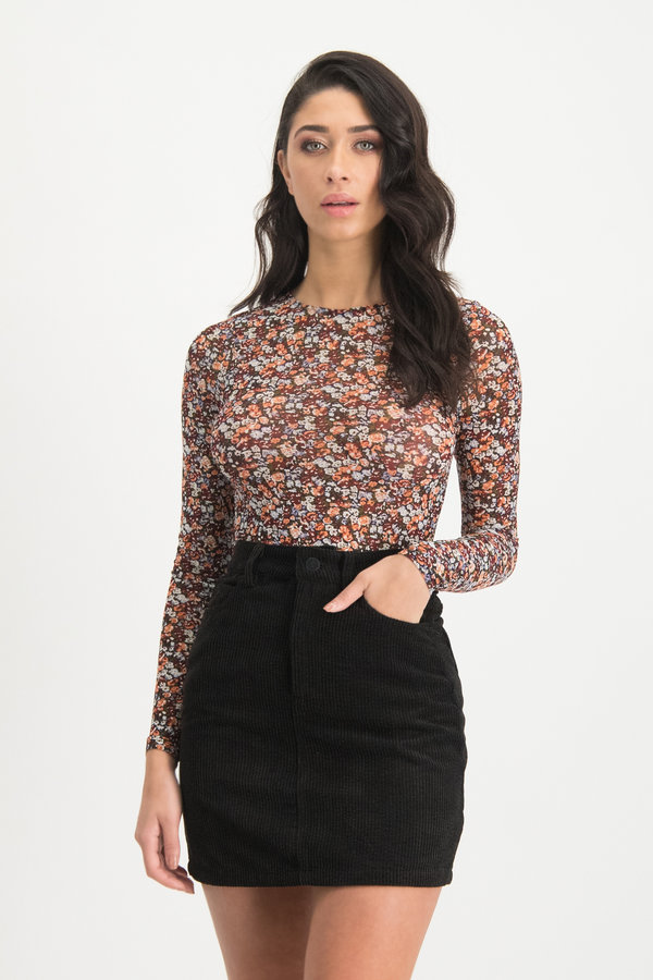 Bloemenprint Top Zeila