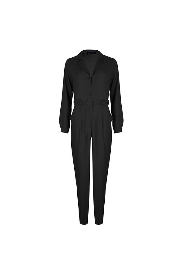 Lofty Manner Black Jumpsuit Alina