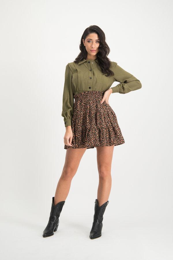 Bloemenprint Mini Skirt Otilia