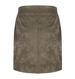 Lofty Manner Velor Green Skirt Yazz