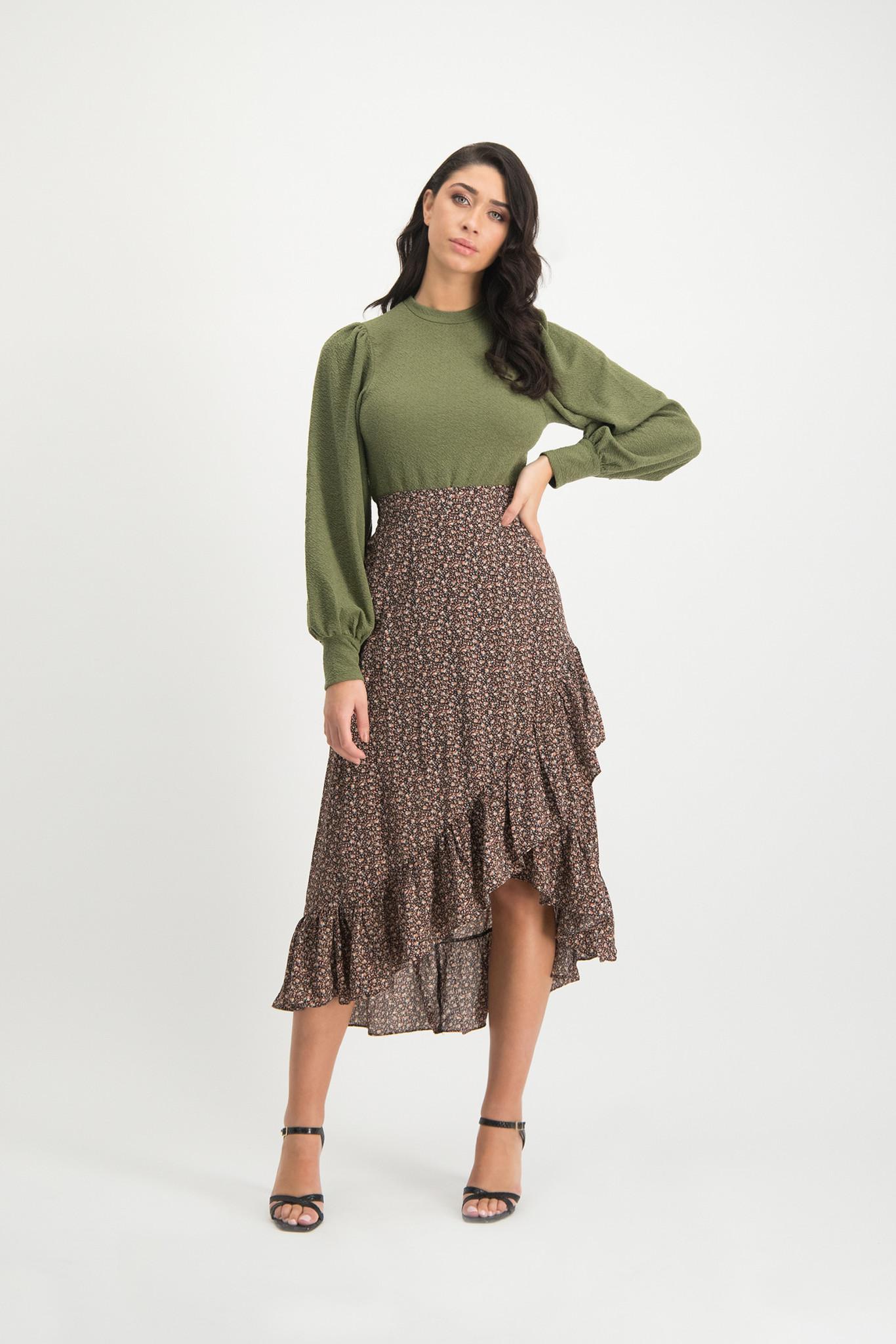 Lofty Manner Midi Skirt Lyna
