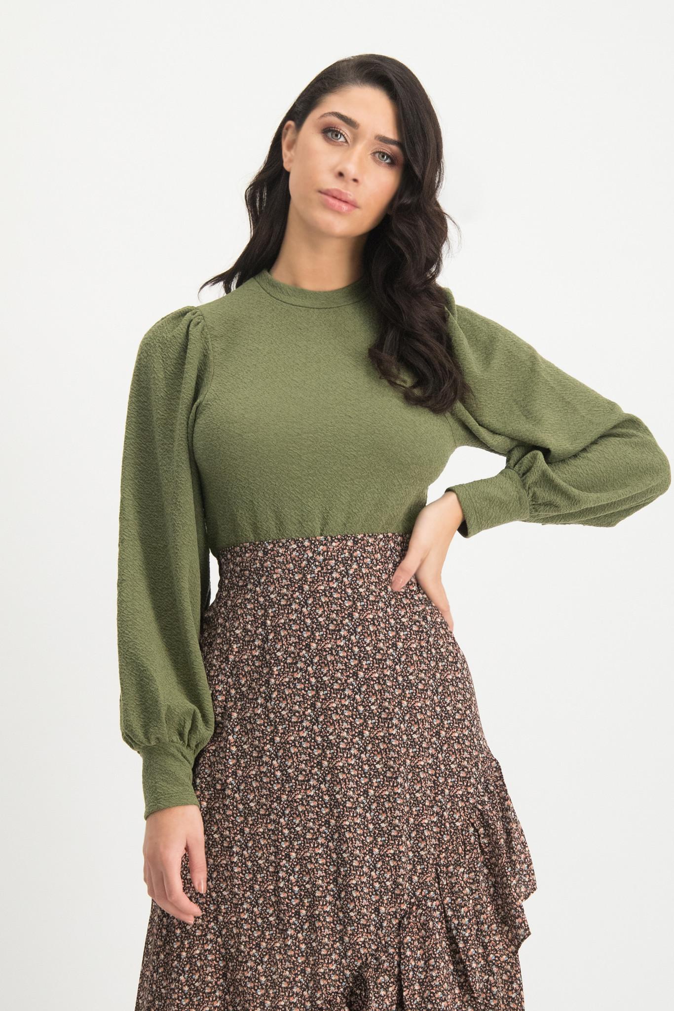 Lofty Manner Groene Sweater Fenna