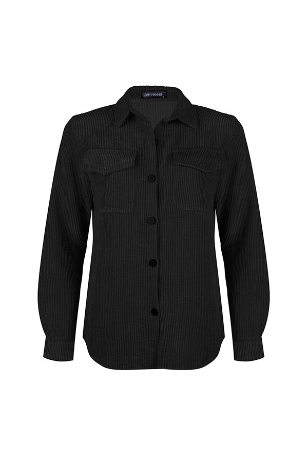 Lofty Manner Zwarte jas Brynn