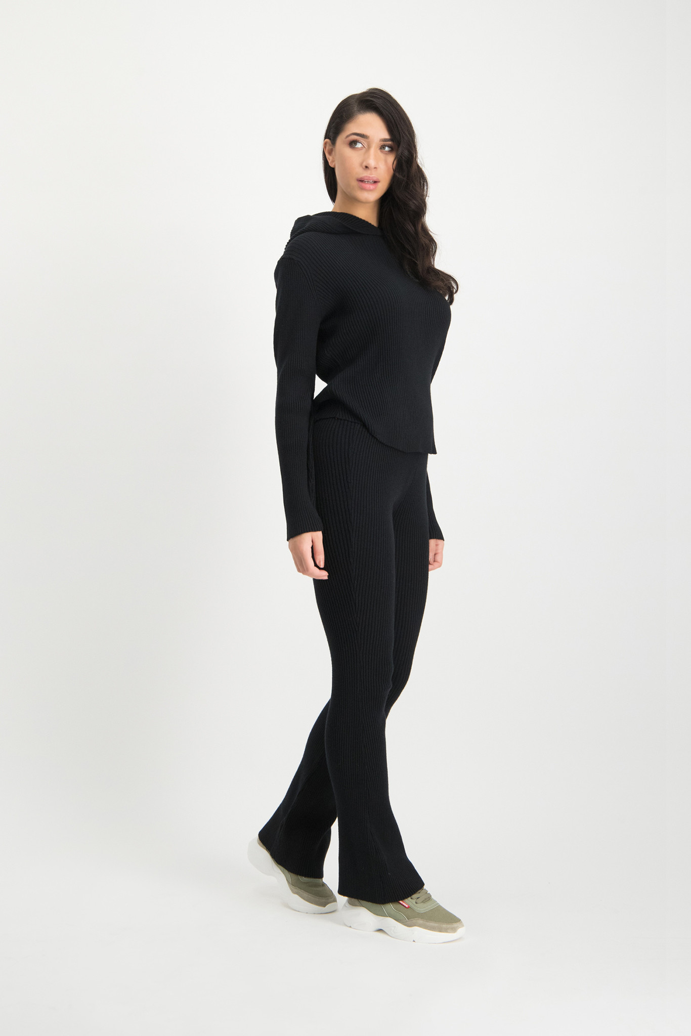 Lofty Manner Black Sweater Hood Yasmine