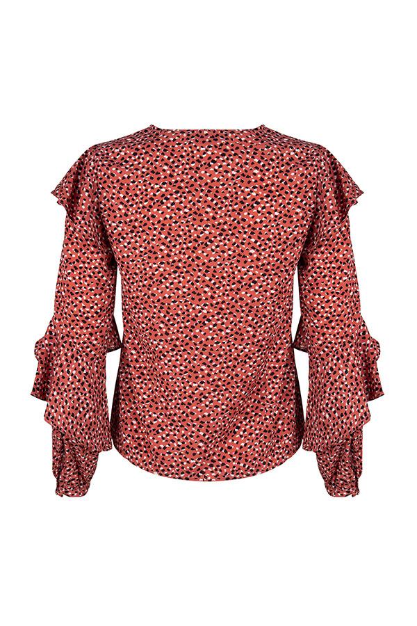 Lofty Manner Pink Animalprint Blouse Top Laura