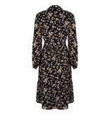 Lofty Manner Yellow Floral Print Midi Dress Ellis