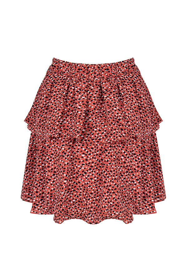Lofty Manner Zwart-Roze Animalprint Rok Neva