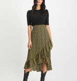 Lofty Manner Yellow Midi Skirt Lyna