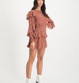 Lofty Manner Roze Animalprint Blouse Top Laura
