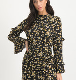 Lofty Manner Yellow Floral Print Blouse Top Spencer
