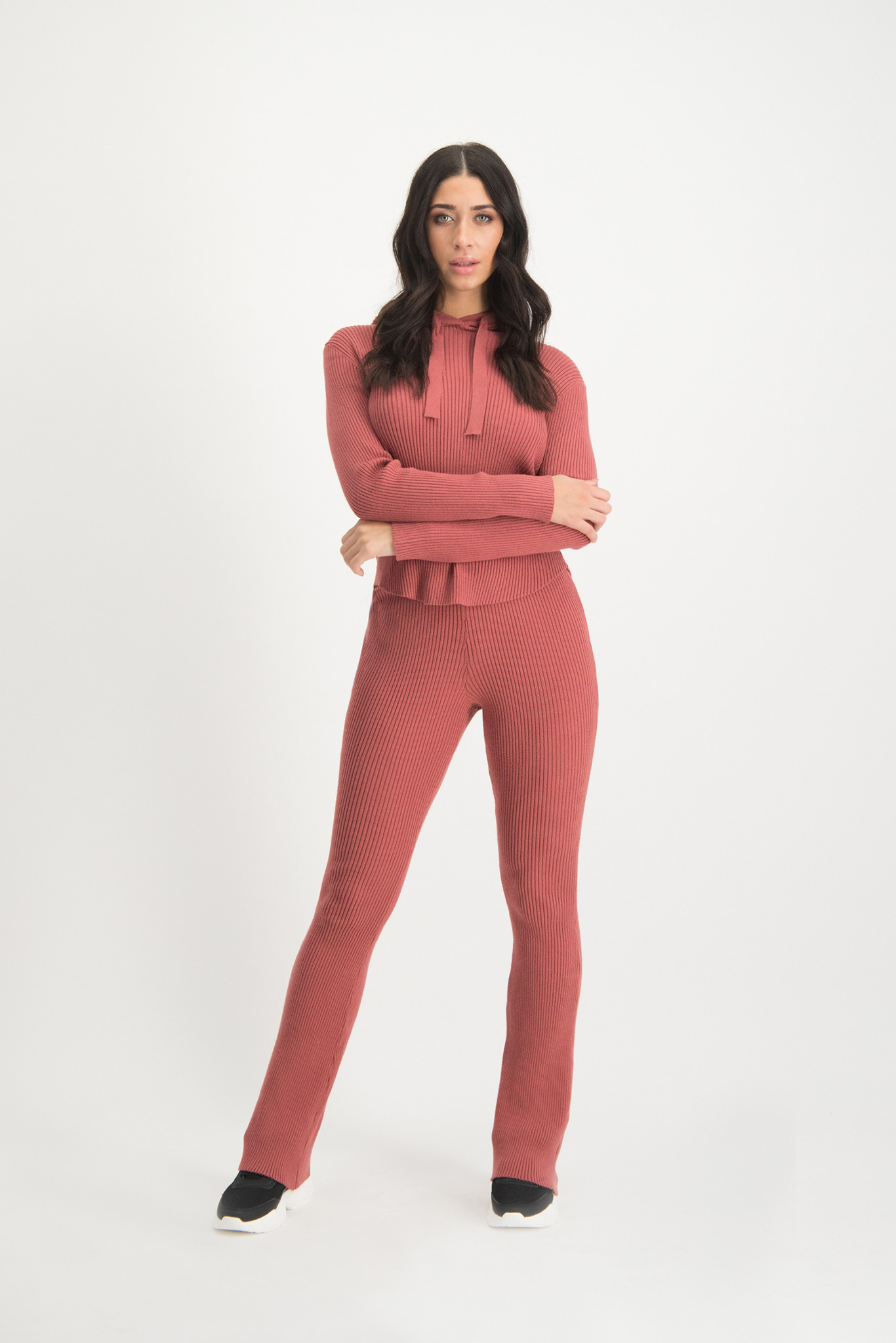 Lofty Manner Pink Flared Pants Florence