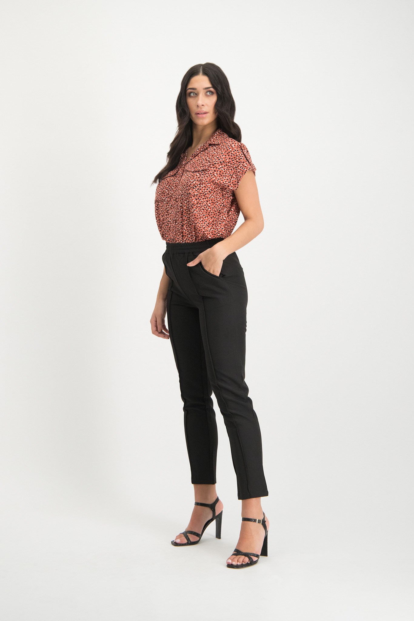 Lofty Manner Blouse Top Cicely Pink