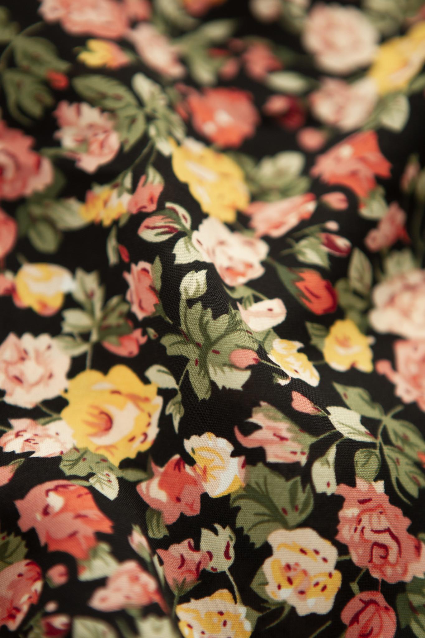 Lofty Manner Gele Bloemenprint Mini Rok Otilia