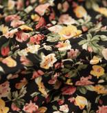 Lofty Manner Gele Bloemenprint Midi Jurk Kaya