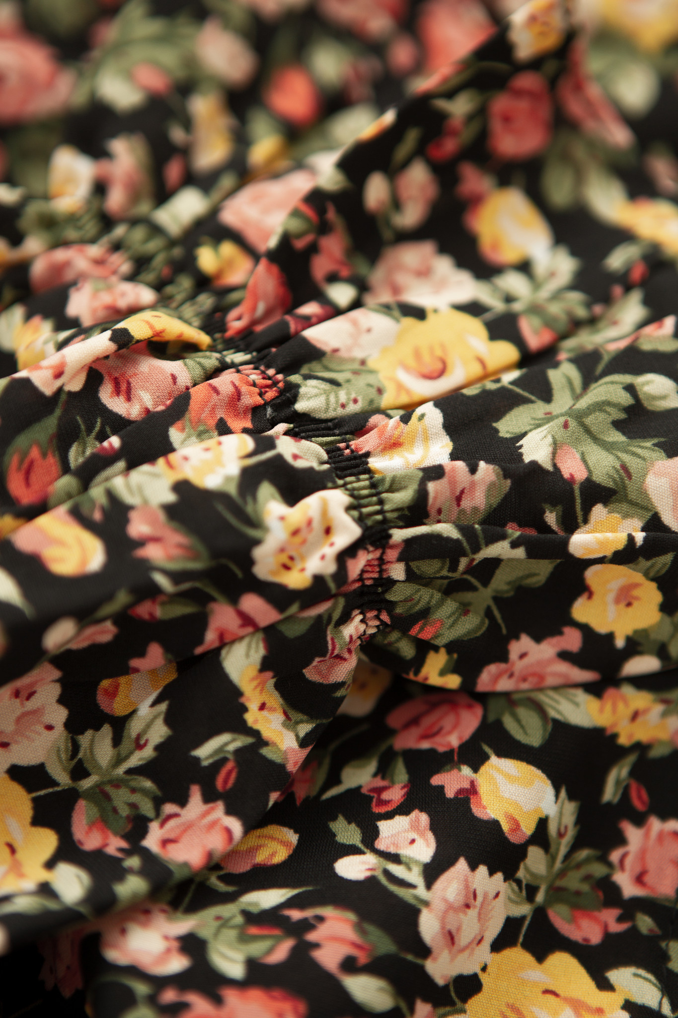 Lofty Manner Yellow Floral Print Midi Dress Kaya