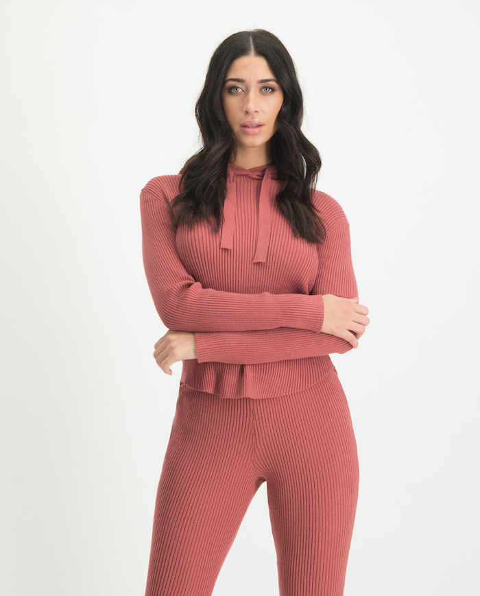 Lofty Manner Roze Sweater Capuchon Yasmine