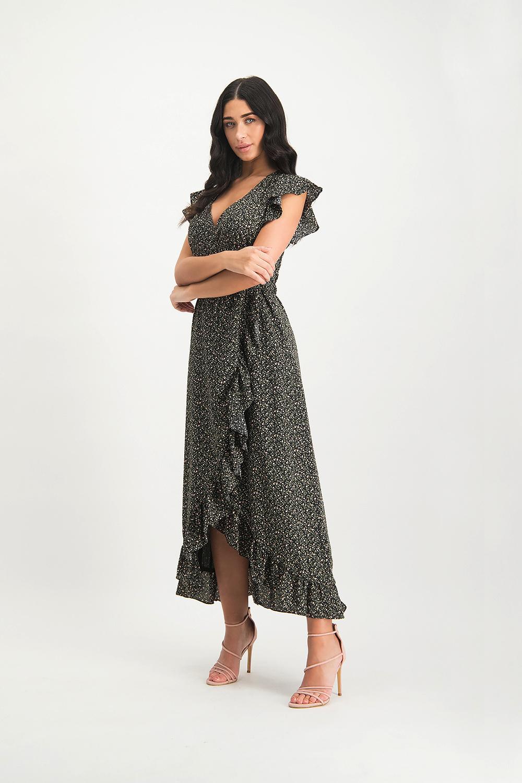 Lofty Manner Donkere Maxi Dress Felisa
