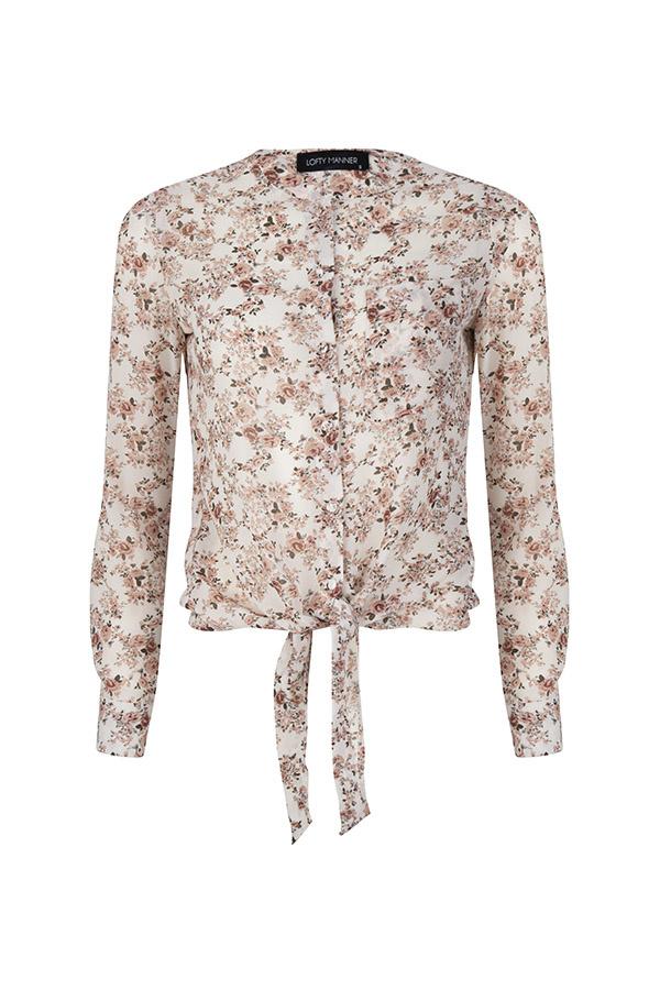 Lofty Manner Poeder roze Blouse Anne Lou