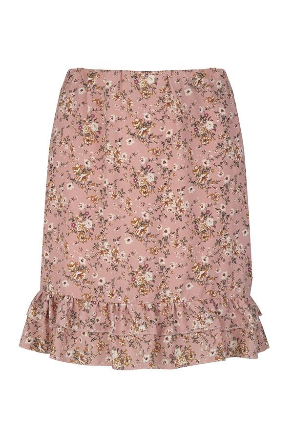 Lofty Manner Roze Bloemenprint Mini Rok Myra