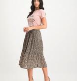 Lofty Manner Floral Print Midi Skirt Madelon
