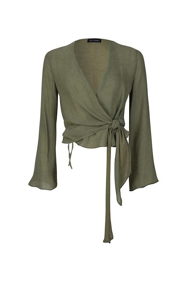 Lofty Manner Groene blouse Joya