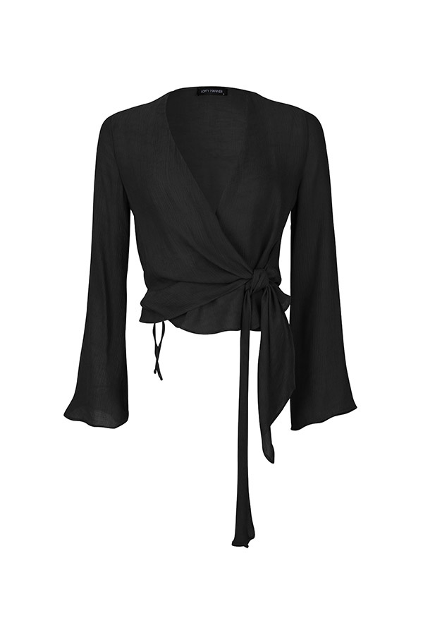 Lofty Manner Zwarte blouse Joya