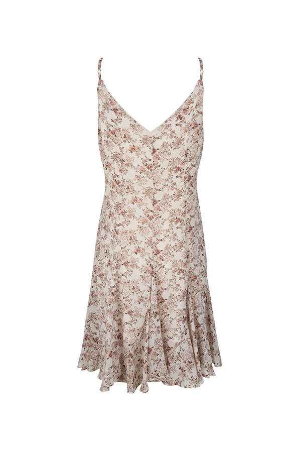 Lofty Manner Poederroze bloemenprint zomerjurk Leslie