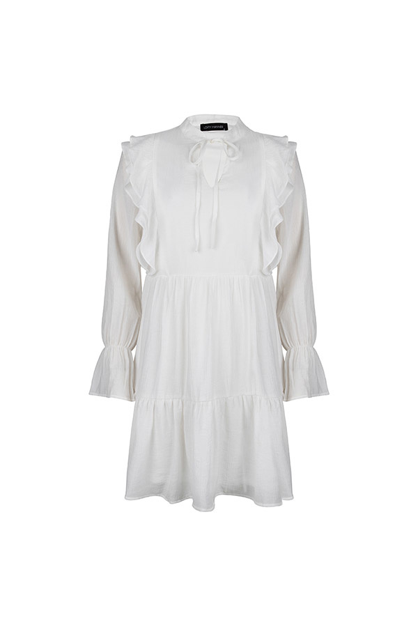 Lofty Manner White Midi Dress Maxie