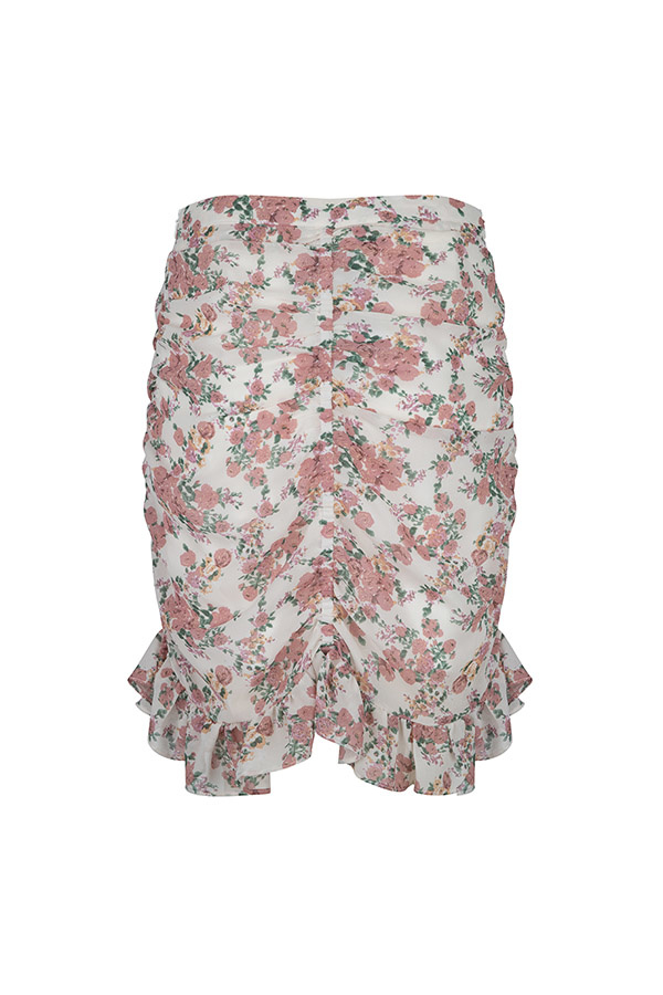 Lofty Manner Pink Floral Print Skirt Zeina