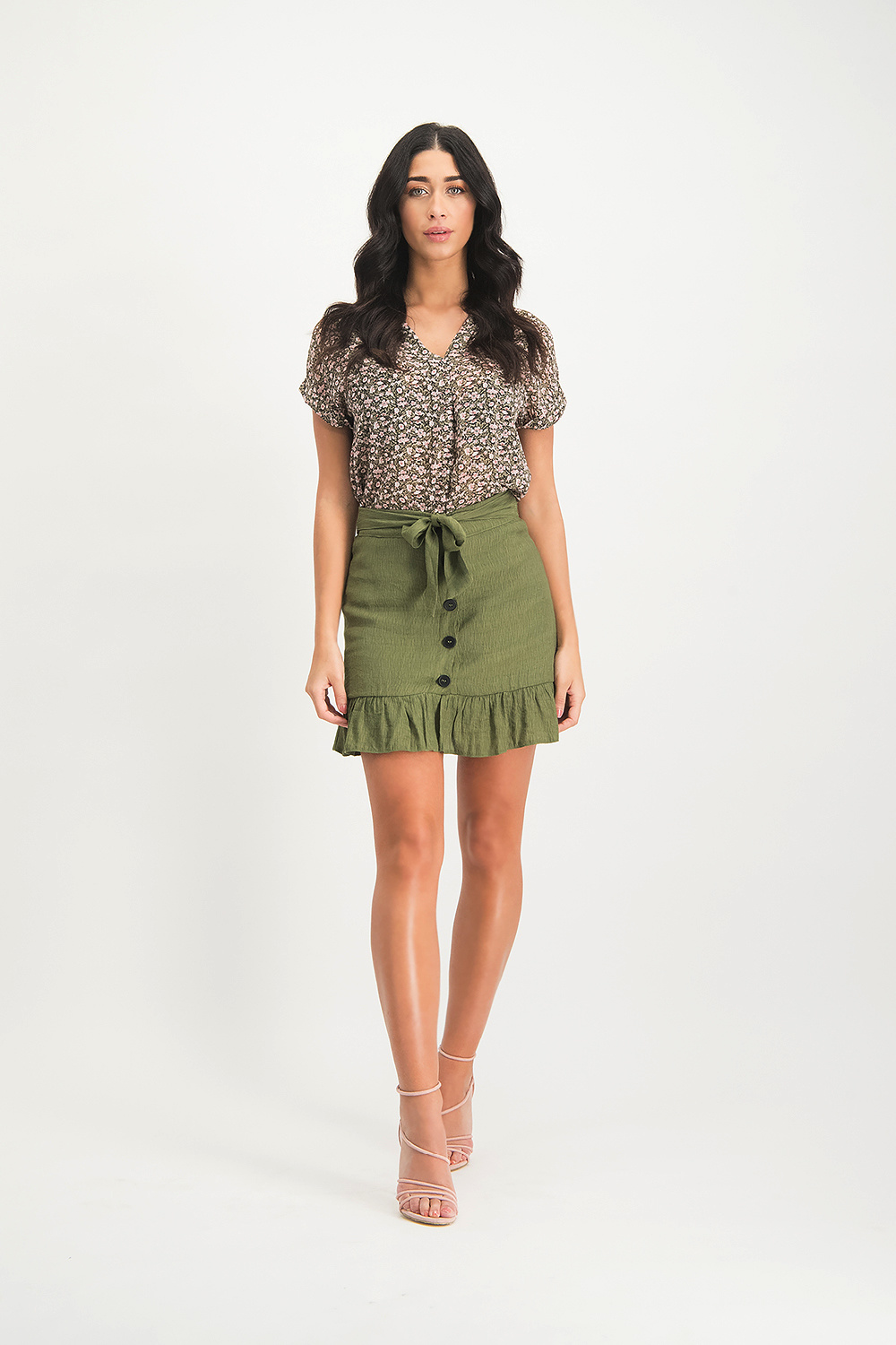 Lofty Manner Army green Skirt Coco