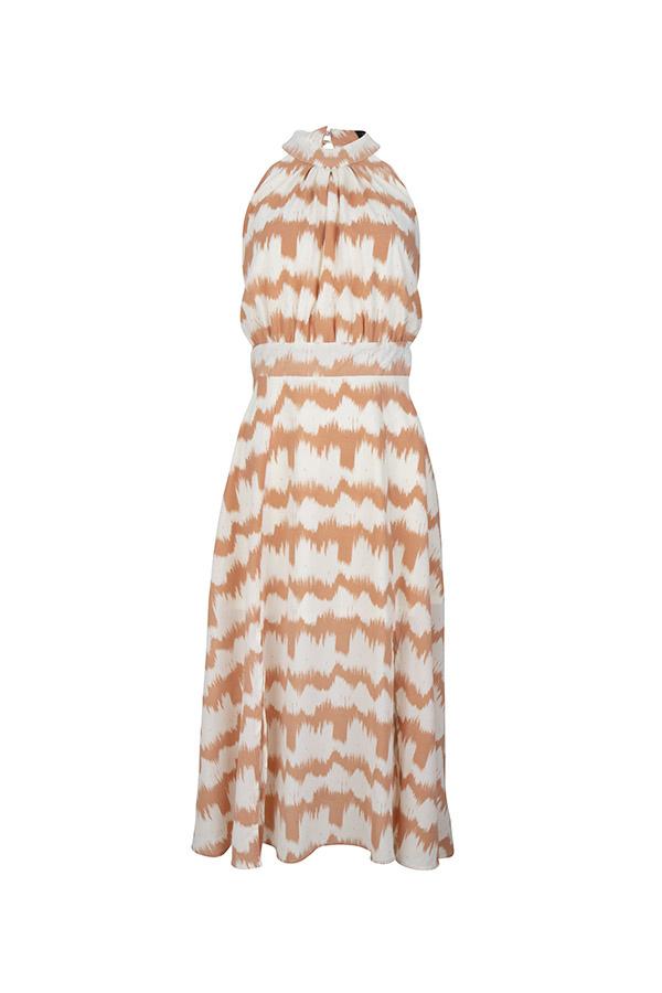 Lofty Manner Peach Off-white Dress Renate