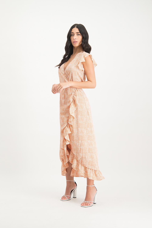 Lofty Manner Perzik maxi jurk Felisa