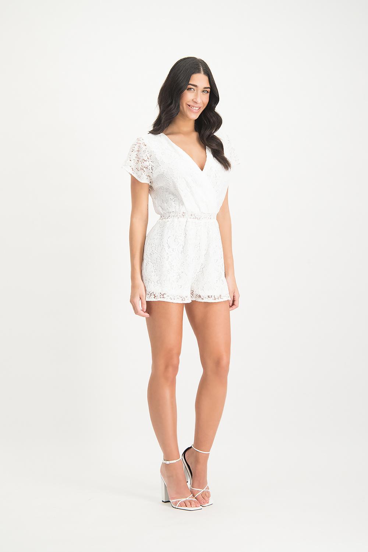 Lofty Manner White lace Jumpsuit Chaja