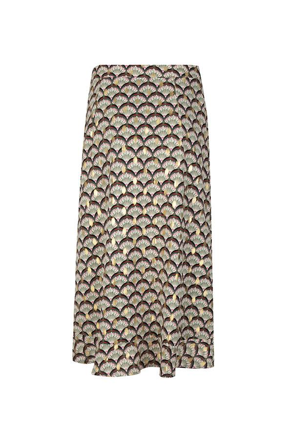 Lofty Manner Midi Wrap-Skirt Isla