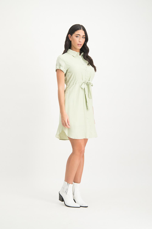 Lofty Manner Mintgroene blouse jurk Florine