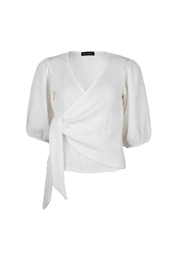 Lofty Manner White Puff Sleeve Top Zita